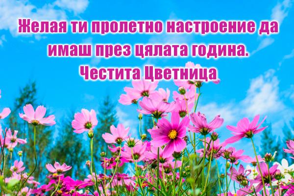 Картичка за  Цветница и пролетта